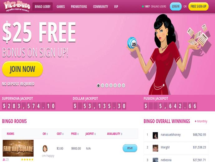 Vics Bingo Online