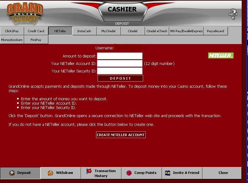 free no deposit code casino