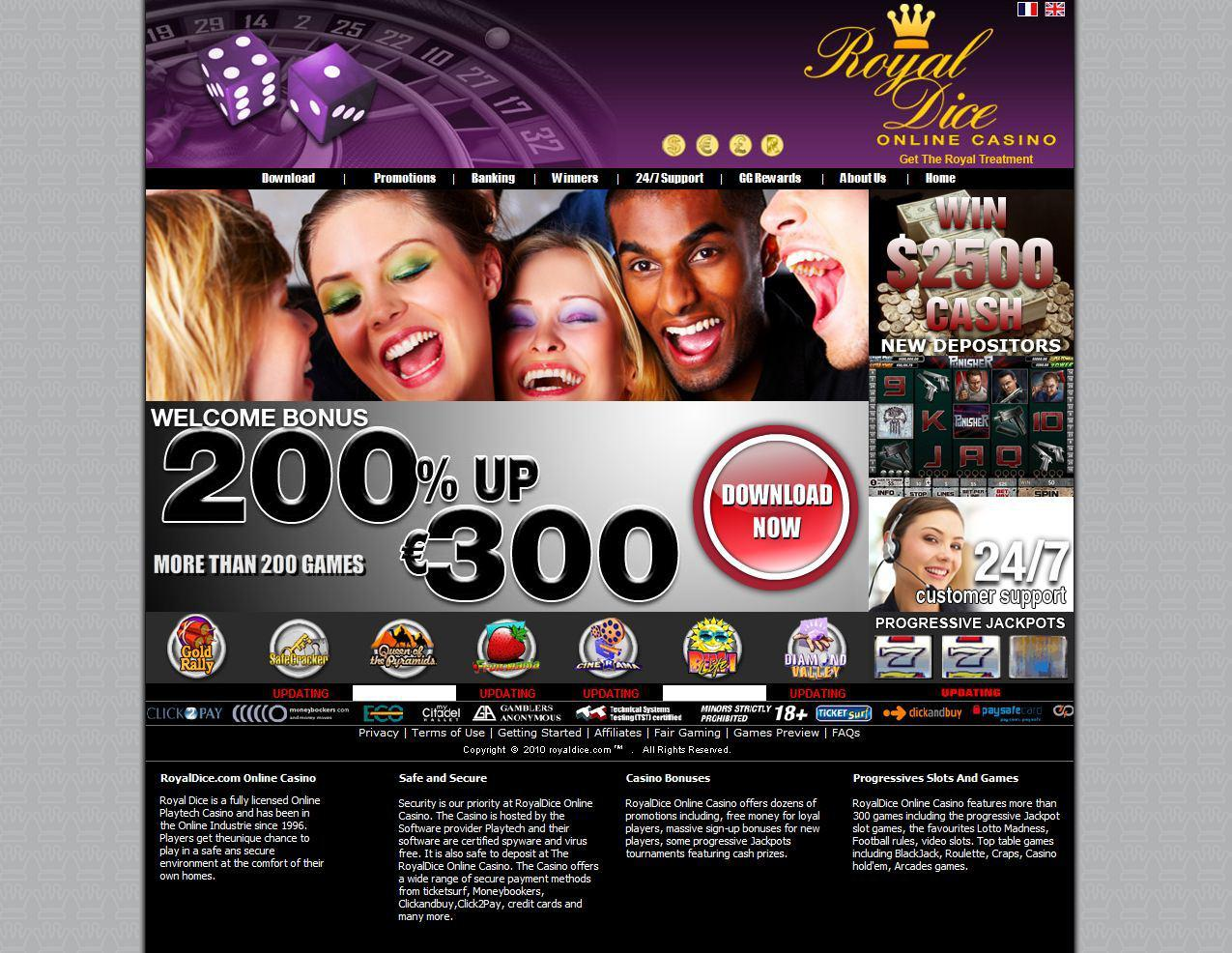 Royal dice casino review nevada casino for sale