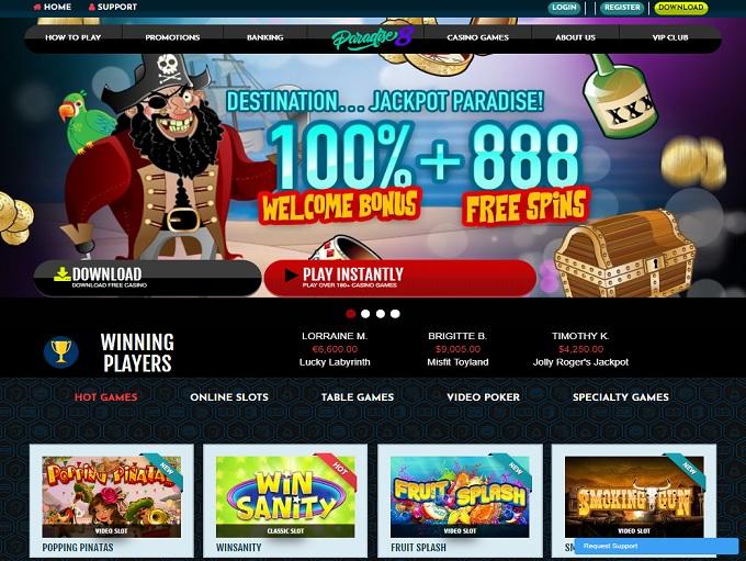 Paradise 8 Online Casino