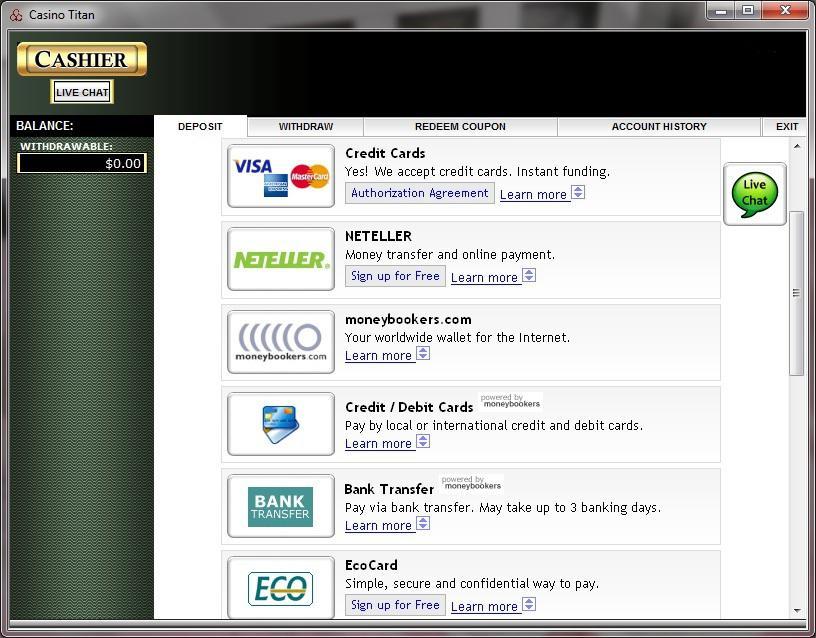 Titan Casino Download