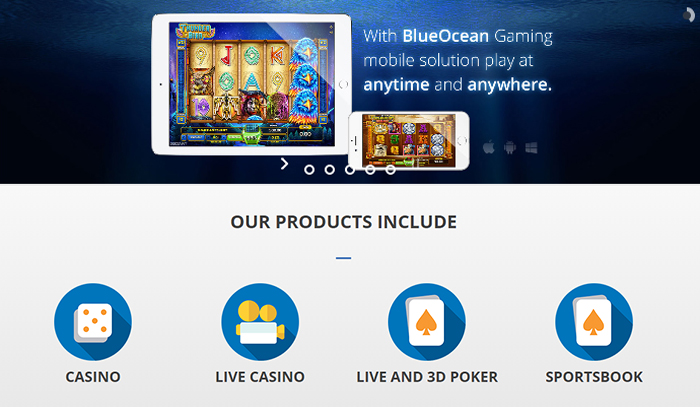Blue Oceans Casino Offering