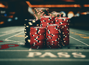 The five principal bets made at the Craps table