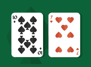 Playing Pocket Ten-Seven in Texas Holdem
