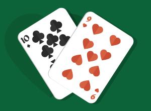 Playing Pocket Ten-Nine in Texas Holdem
