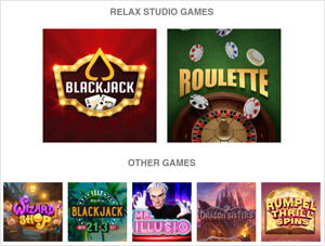 Relax Gaming Slot Page