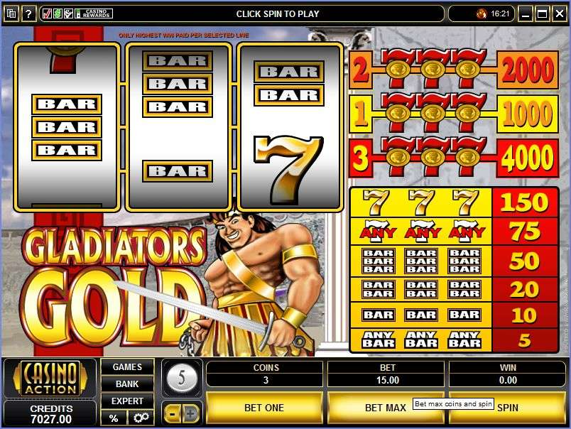 Fight To Win In No Download Gladiator Slots