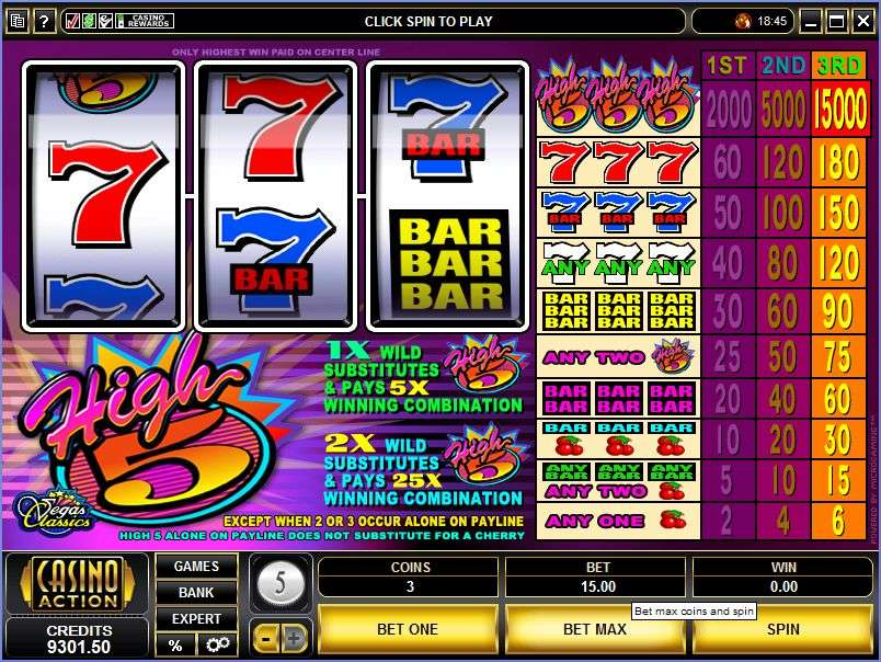 High Five Slot Games
