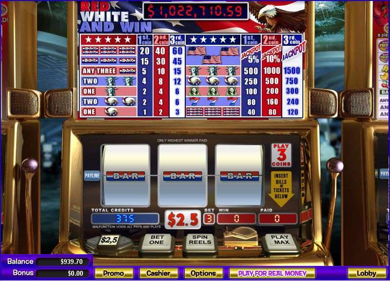 Red White and Win Slots - Red White Win, Online Slots
