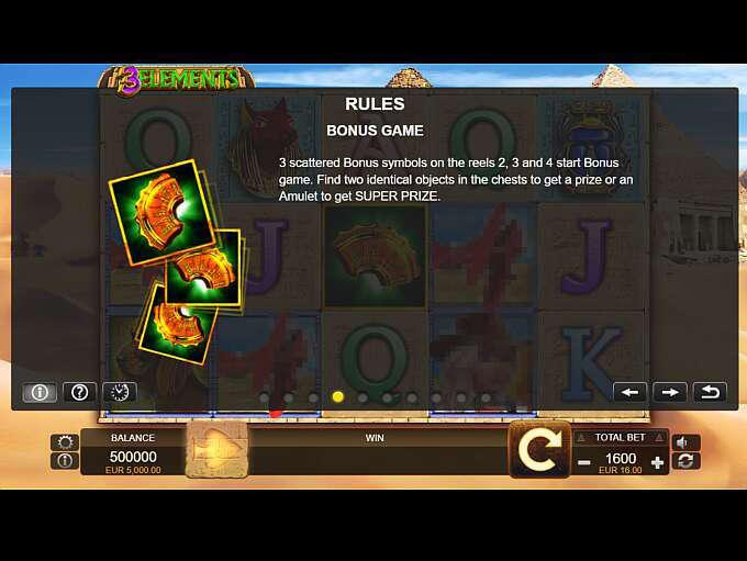 3 Elements is the right slot for adventurers! This slot takes you to Egypt on a treasure hunt, and with 40 paylines and symbols that change position, you'll quickly find the riches.Free spins and bonus symbols also bump up your chances of winning! Gürgentepe