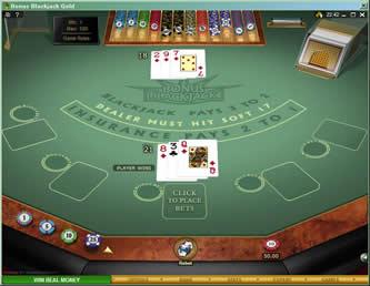 Bonus blackjack sh gold