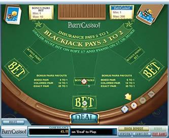 Pg bj bonus pairs bj %28sh%29