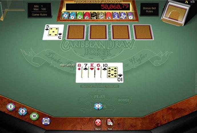 Caribbean Draw Poker Microgaming