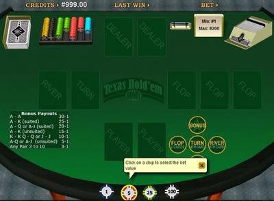 Texas Hold Em Bonus Poker Online Poker Distance Gaming