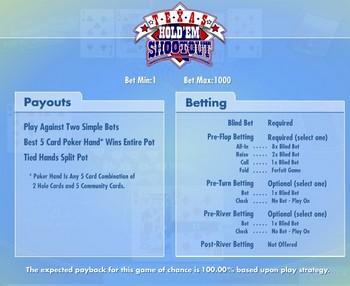 Texas Hold'em Shootout Poker - WagerWorks