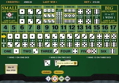 Gambling dice table mirage casinos