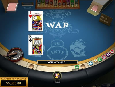 Free online casino war game bill gates casino loss