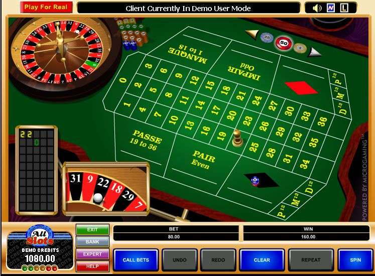 Microgaming american roulette game