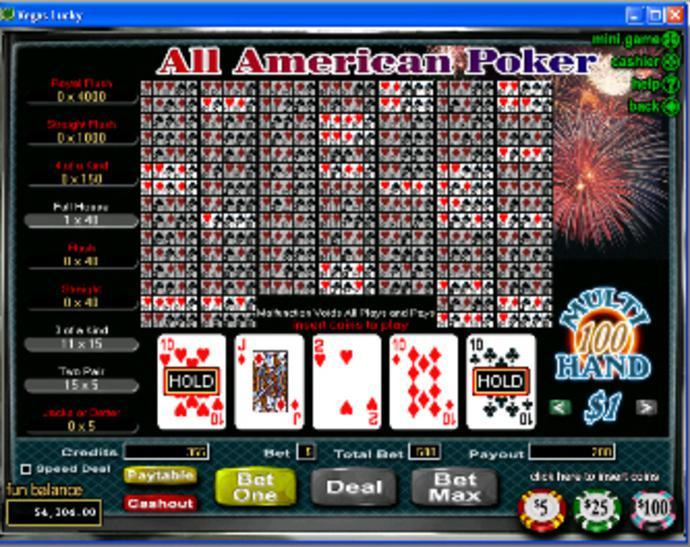 Spiele All American (Single Hand) - Video Slots Online