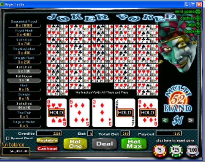 Spiele Bonus Poker - 52 Hands - Video Slots Online