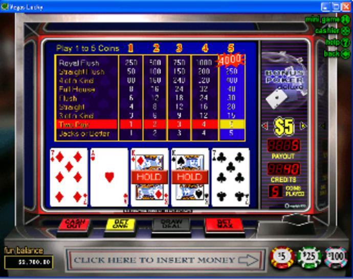 Bonus Poker Deluxe Video Poker