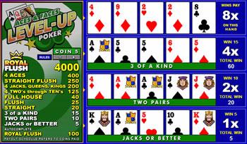 level up games poker