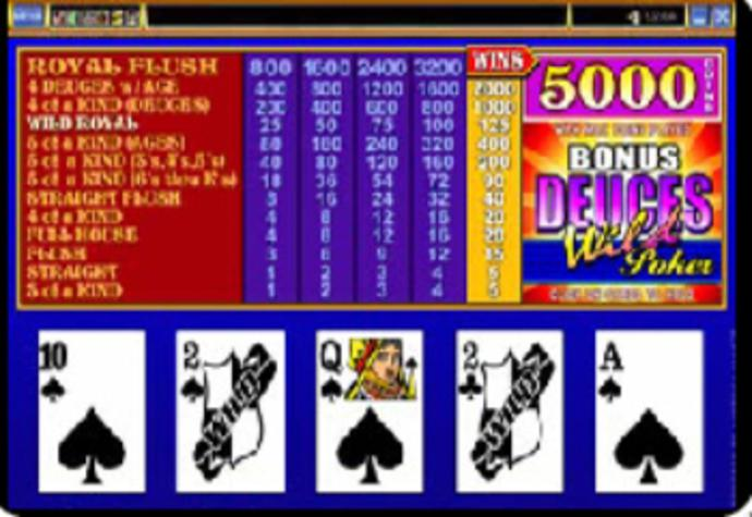 Video poker games deuces wild free video slots