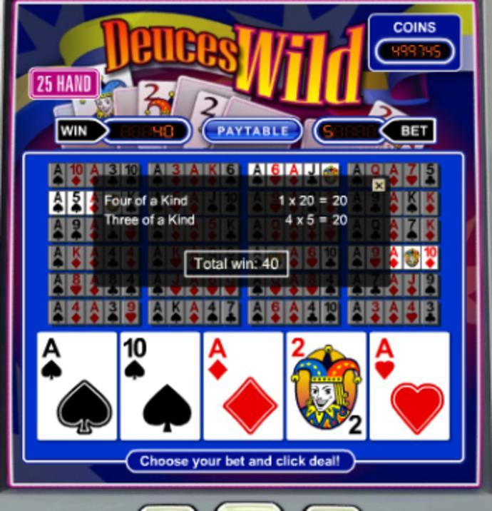Spiele Deuces Wild - 3 Hands - Video Slots Online
