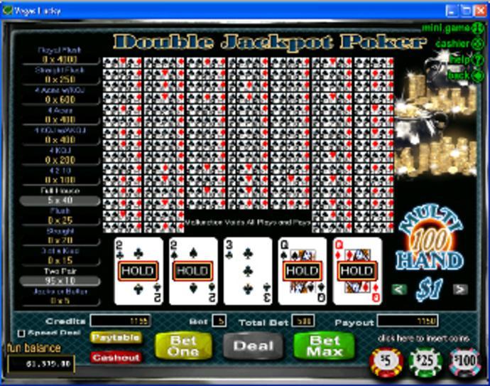 Free video poker game king